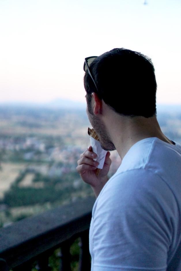 eating the best gelato in cortona - cortona - italy - tuscany - views - explore - travel - adventure